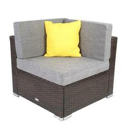 Outdoor Patio Sectional Furniture PE Wicker Rattan Corner So