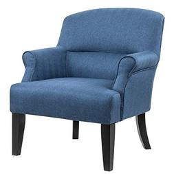 Ravenna Home Penridge Rolled Armed Seamed Back Accent Chair,
