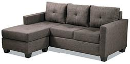Homelegance Phelps Contemporary Microfiber Sectional Sofa wi