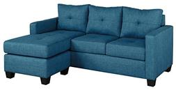 "Homelegance Phelps 78"" Tufted Sectional Sofa with Reversible"