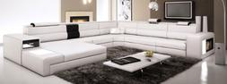 polaris contemporary leather sectional sofa