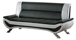 """Homelegance R18219-3 Faux Leather Low-Profile Sofa, 78"""" W,"""