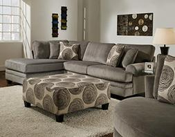 Chelsea Home Furniture Rayna 2-Piece Sectional, Groovy Smoke