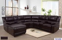 Lifestyle Furniture 5-Pieces Recliner Sectional Sofa Set wit