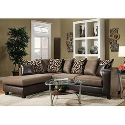 Flash Furniture Riverstone Object Espresso Chenille Sectiona