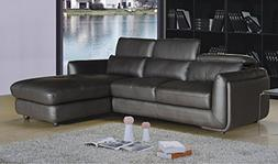 Christies Home Living 2Piece Ron Leather Modern Living Room