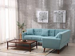 Container Furniture Direct S00127-L Barnet Sectional Sofa, B