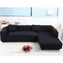 Sand Sofa Slipcover SAFETYON Elastic Sofa Cover Sets L Shape