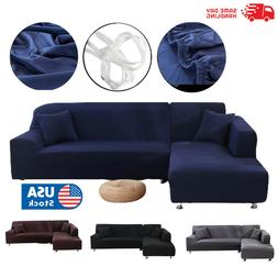 Seat Chair L Shape Sofa Couch Cover Stretch Slipcover Sectio