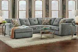 Sectional in Kelly Gray