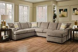 Chelsea Home 2-Pc Sectional Set in Perth Pewter