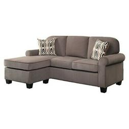 sectional sofa 59 w brown