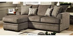 Chelsea Home Sectional Sofa in Cornell Pewter