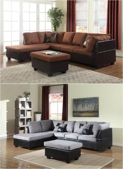 The Room Style Sectional Sofa Furniture Microfiber Couch Liv