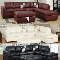 Sectional sofa Leather Sofa set Sectional couch 3 Pc Living