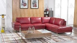 sectional sofa left hand chase italian leather