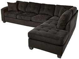 Homelegance 2 Piece Sectional Sofa Polyester With Reversible