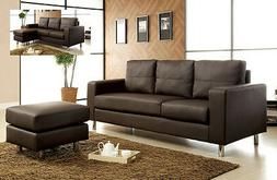 Sectional Sofa Sectional Couch Living room Furniture Brown L