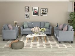Sectional Sofa Set Armchairs Loveseat and Three-Seats Couch