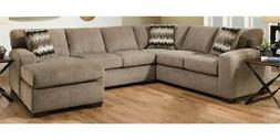Chelsea Home 2-Pc Sectional Sofa Set in Perth Pewter