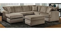 Chelsea Home 2-Pc Sectional Sofa Set in Pewter