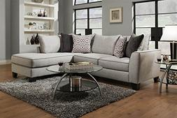 Chelsea Home 2-Pc Sectional Sofa Set in Trounce Mica