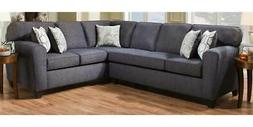 Chelsea Home 2-Pc Sectional Sofa Set in Uptown Denim