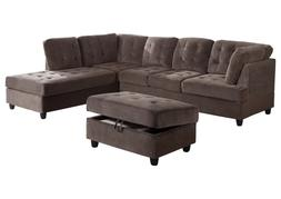 AYCP Furniture Sectional Sofa Set with Storage Ottoman,  Esp