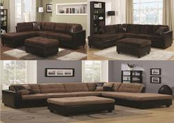Sectional Sofa w/ Reversible Chaise For Living Room Furnitur