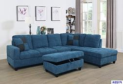 Beverly Fine Furniture SH122A F122A Left Facing Russes Secti