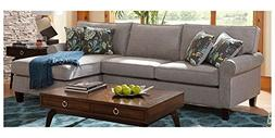 Chelsea Home 2-Pc Sleeper Sectional Sofa Set in Bella Pewter