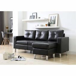 NH Designs Small Space Convertible Sectional Sofa