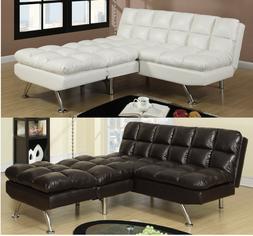 Sofa couch Sectional Bed sofa Cream Black sofa set Faux Leat