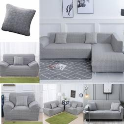 Sofa Covers For L Shape Couch 2pcs Fabric Stretch Slipcovers