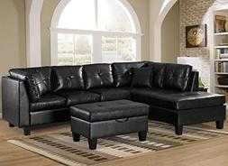Merax. Sofa 3-Piece Sectional Sofa with Chaise Lounge/Storag