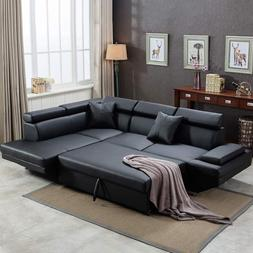 Sofa Sectional Sofa Living Room Leather Futon Sleeper Couch