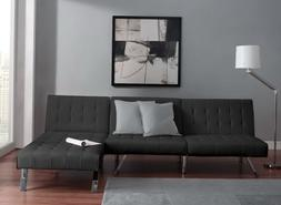 Sofa Sleeper Sectional Chaise Lounge Faux Leather Bed Conver