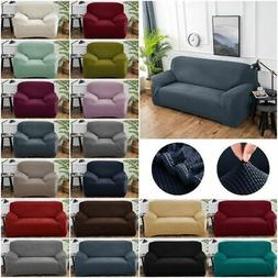 Solid Color Stretch Sofa Cover Stretch Sectional Couch Slipc
