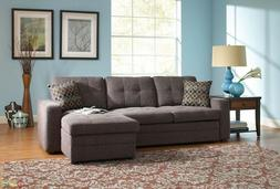 Storage Sectional Sofa with Pull-Out-Bed