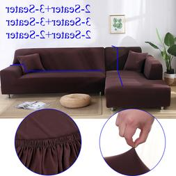 Stretch 1 2 3 4 Seater for Sectional 2+3 3+3 L shape Sofa Co