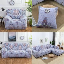 Stretch Fabic Slipcover Sofa Covers for 1 2 3 4 Seater L sha
