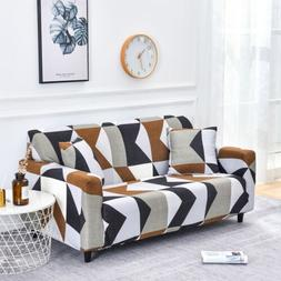 string printed sofa covers elastic stretch slipcover