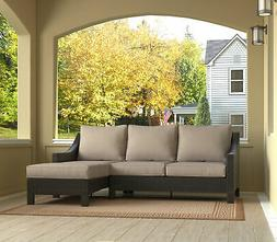 Serta at Home Tahoe Outdoor Wicker Patio Sectional with Cush