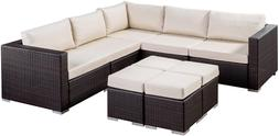 tammy rosa outdoor 5 seater wicker sectional