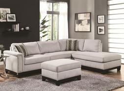 transitional sectional sofa set blue gray color