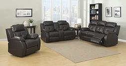 Christies Home Living Troy Room Set in Espresso 5 Power Recl
