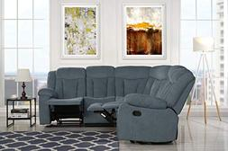 upholstered inch fabric recliner sectional
