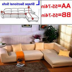 USA 2pcs Couch Slipcover For Sectional Corner L Shape Sofa C