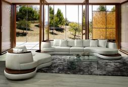 VIG 105 Divani Casa Rodus Modern Rounded Leather Sectional S