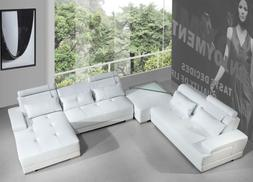 VIG Divani Casa Phantom White Bonded Leather Sectional Sofa